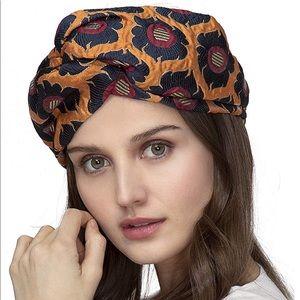 New Wide Jacquard headwrap Turban